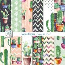 Papéis Digitais Cactus