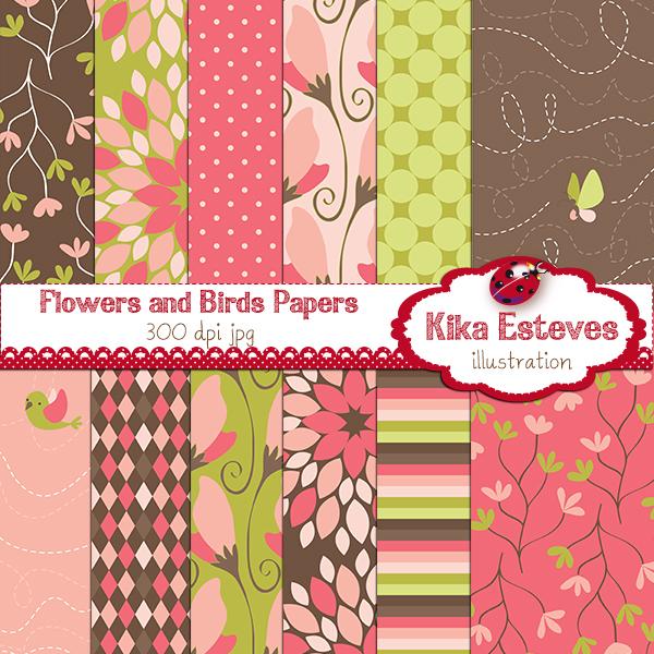 KEflowersbirdspapers