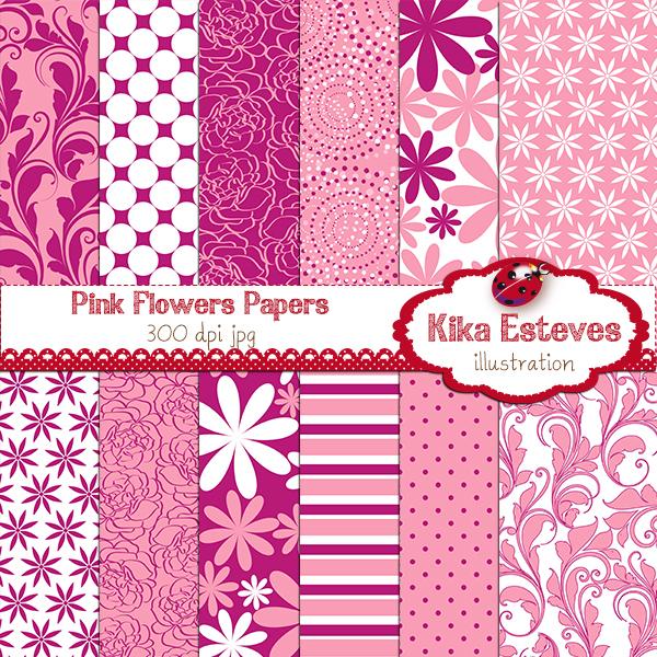 KEpinkflowerspapers