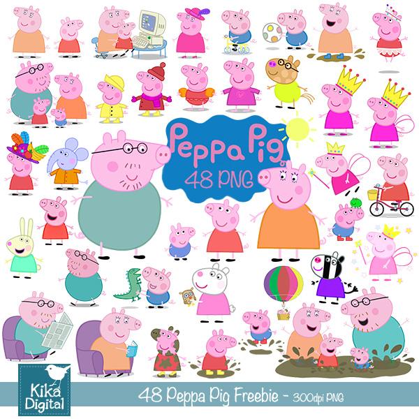 Peppa Pig Clip Art | Kika Esteves Design