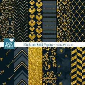 KEblack-gold-papers
