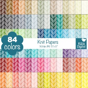 KErainbow-knit-papers