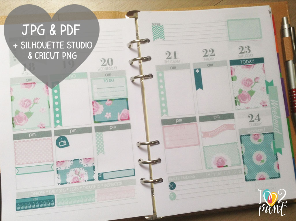 Mint-shabby-planner-page